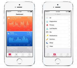 Apple's HealthKit interface